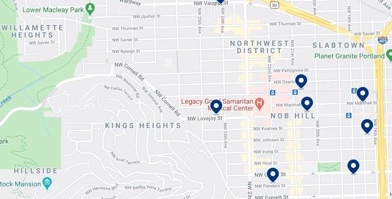 Alojamiento en Nob Hill y Northwest Portland - Haz clic para ver todo el alojamiento disponible en esta zona