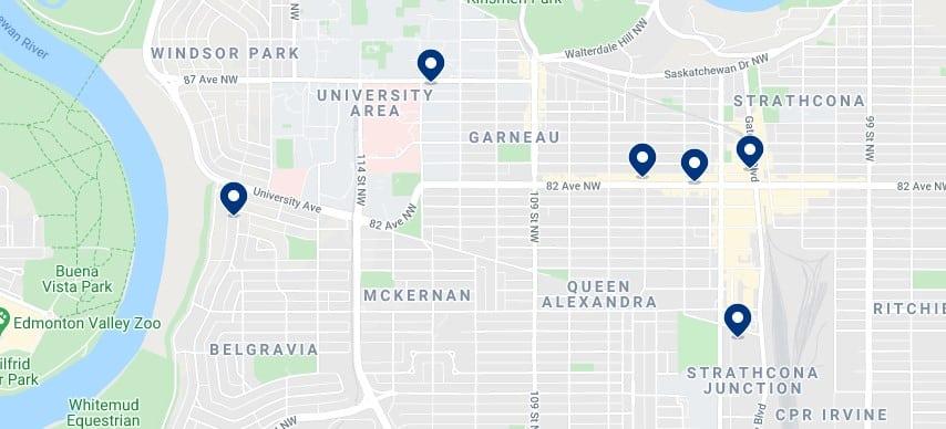 Alojamiento en Strathcona & South Central Edmonton - Haz clic para ver todo el alojamiento disponible en esta zona