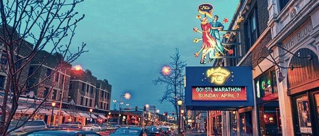 Best area to stay in St Louis for nightlife - Delmar Loop