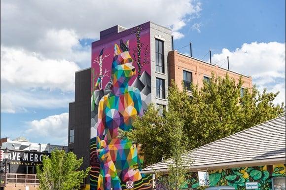 Zona hipster en Edmonton - Old Strathcona