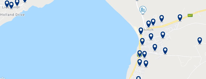 Accommodation in Lahinch - Click on the map to see all the accommodation in this area